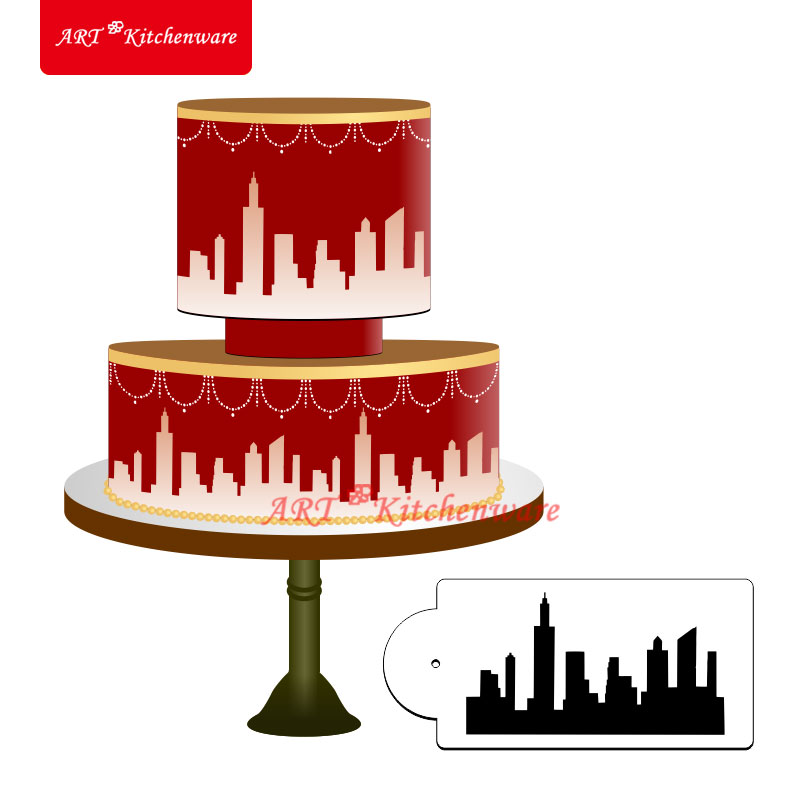 Aliexpress.com : Buy New York Skyline Cake Stencil Cake ...