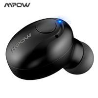 Original Mpow Spuer Mini In Ear Wireless Earphones Black Portable Bluetooth Wireless Earphones Hands Free Call