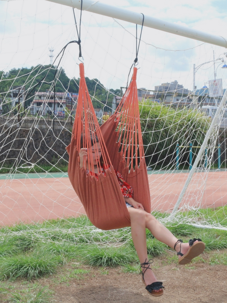 Image 3 - Pure color outdoor and indoor hammock adult kids children swinging hanging chair-in Hammocks from Furniture