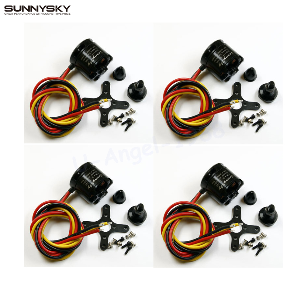 4pcs/lot SunnySky V2814 Brushless Motor 700KV 800KV 870KV for RC Aircraft  Quadrocopter Multicopter