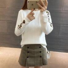 3 tamaños cálido otoño invierno moda bordado Floral suéteres mujeres  Pullovers de punto c2b58151924c