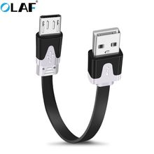 OLAF Micro USB Cable For Samsung Xiaomi Redmi Fast Charging Flat Microusb Data Charger Cord Android 1m/2m/3m Mobile Phone Cables