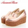 ANMAIRON Hot Sale Women Large Size 34-43 Shoes, Sponge Cake Sole Ladies Casual Shoes 3 Color Platform Shoes