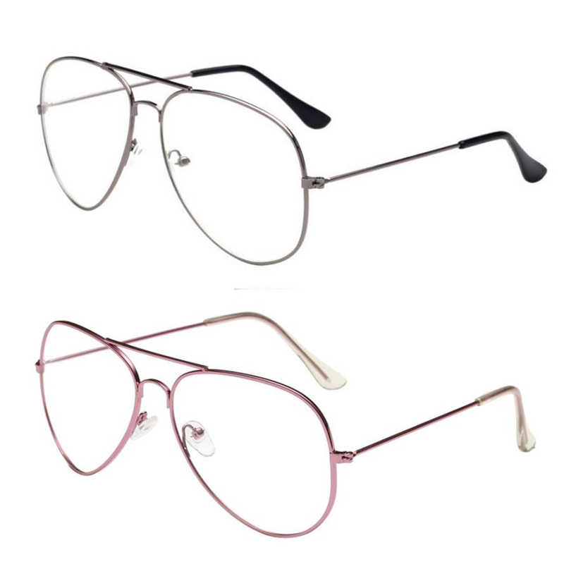 نظارات شمسية feitong 2018 للرجال والنساء بعدسات شفافة نظارات معدنية بإطار نظارات لقصر النظر نظارات لونيت فيم بإطار عين القطة