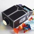 Venda quente mini portátil cinema diy papelão smartphone projeção projetor para home audio & video do telefone móvel presente