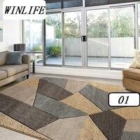 WINLIFE Европейский Геометрический стиль ковры гостиная/салон/спальня ковры большие коврики украшения ковры моющиеся ковры
