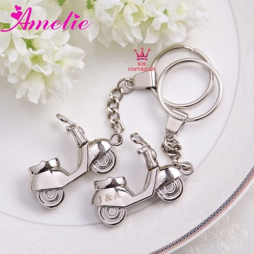 10piece with free shipping customized wedding favor gifts metal keychain favors red silver white party favors
