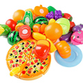 24 Pçs/set Corte De Plástico Fruta Vegetal Cozinha Clássica Brinquedos Desenvolvimento Precoce e Educação Brinquedo Para O Bebê Crianças Presente Das Crianças