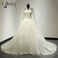 Fabulous Wedding Dress Luxury Brides Formal Gowns Middle East Arabia Womens Wedding Gowns Robe de Mariee Romantic Princess Dress