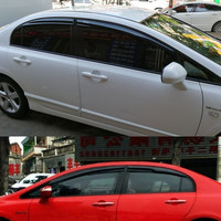 4pcs Exterior Mugen Style Sun Window Visor Protective Sun Window Shield For Honda Civic 2006 2007