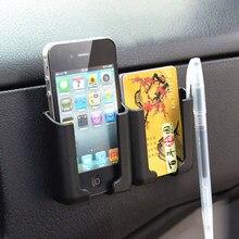 Suporte automotivo para celular, adesivo multifuncional preto para armazenamento de celular e telefone móvel