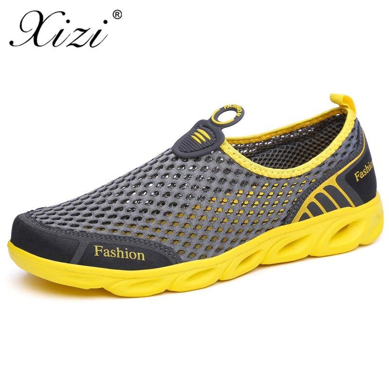 Хызы 2018 новые мужские кроссовки мужские беговые сетчатые летние спортивные туфли спортивные сандалии size39-45 Трек обувь masculino adulto