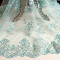 7 Colors Car Bone Lace Fabric 130cm Wide Wedding Dress Curtains Diy Handmade Materials Embroidery 3d