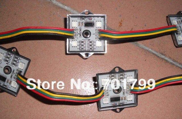promotion!!!36mm*36mm Square 12V Digital RGB LED Pixels,WS2801 IC,20pcs a string