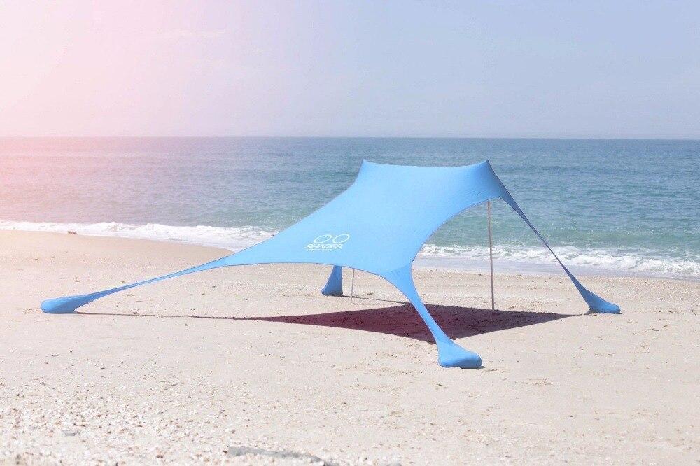 Pergola portátil windproof praia pára-sol e tenda