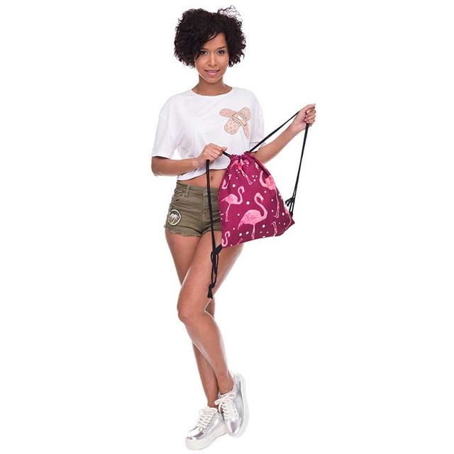 043b8e5324448 US $4.05 10% OFF|flamingo pattern Waterproof Travel Drawstring Dry Storage  Bag Shoe Laundry Lingerie Makeup Pouch cosmetics Underwear Organizer-in ...