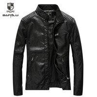 Spring Autumn New PU Leather jacket Men's Leisure Leather Jacket Washed Thin Motorcycle Leather Jacket Coat Size M 5XL
