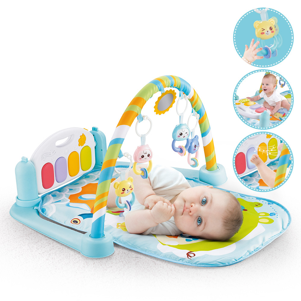 How To Play Newborn On Piano Us 32 05 Hot Selling Baby Fitness Rack Pedal Piano Newborn Remote Control Music Toy Pedal Piano Baby Play Mats In Play Mats From Toys Hobbies On