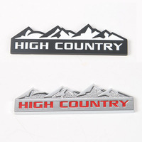 High Country Auto Stickers For Cab 3Pcs ABS Black Red