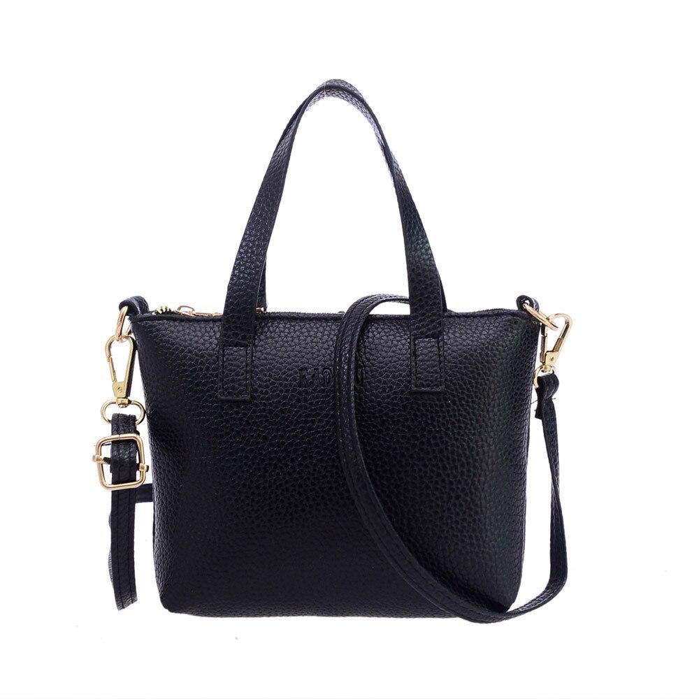 2017 Hot Selling Women Fashion Handbag PU leather Shoulder Bag Solid Zipper Casual Tote Ladies Coin Phone Purse Messenger Bag