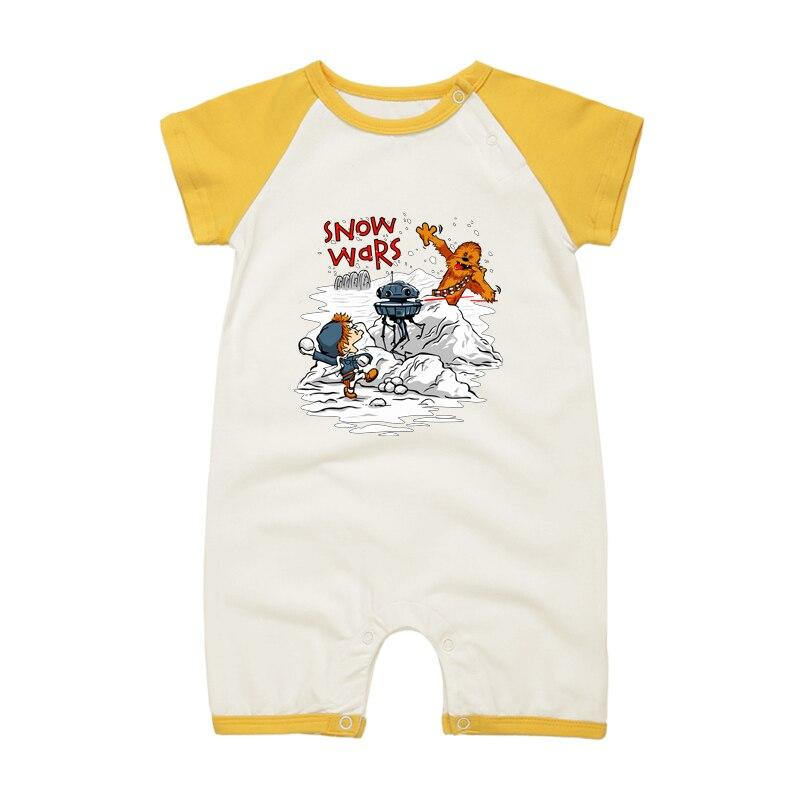 Star Wars Cute Chewbacca Baby Short Sleeve Bodysuit
