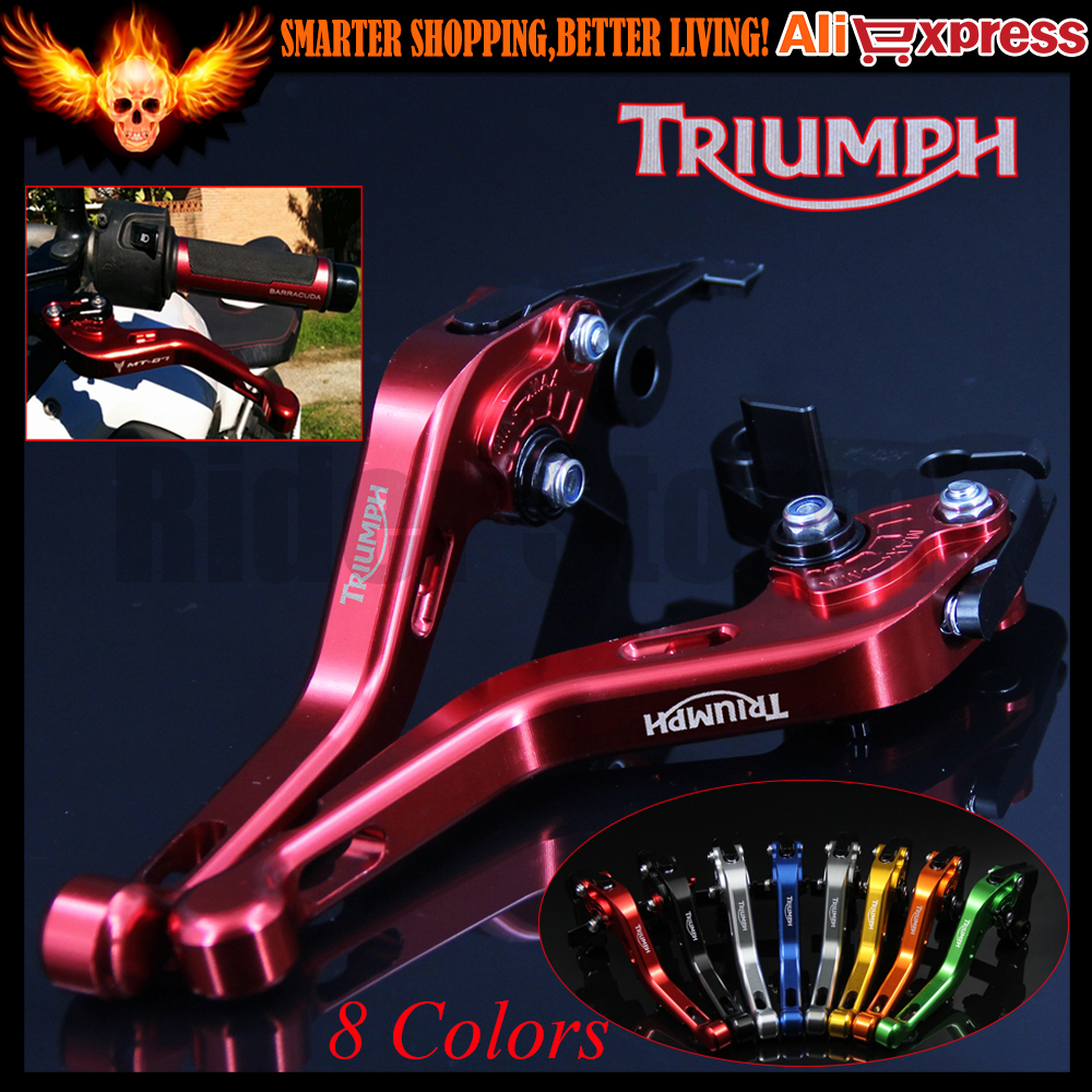 Red 8 Colors CNC Motorcycle Short Brake Clutch Levers For Triumph 675 STREET TRIPLE R/RX 2009 2010 2011 2012 2013 2014 2015 2016 motorcycle new adjustable cnc billet short folding brake clutch levers for triumph tiger explorer 1200 2012 2015 2013 2014 12 15