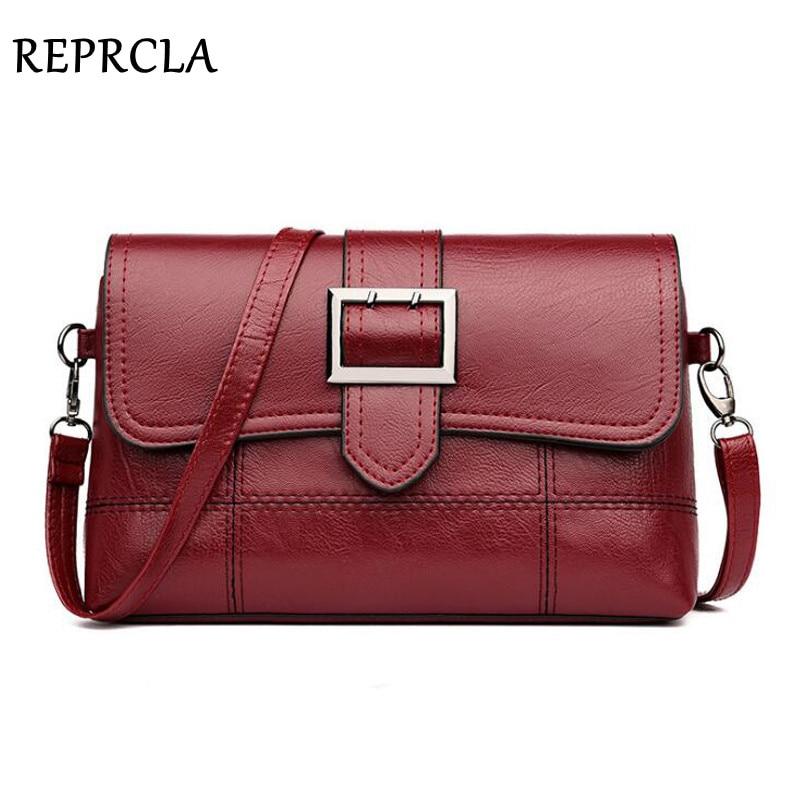 REPRCLA Brand Designer Women Shoulder Bag Fashion Handbag And Purse PU Leather Crossbody Bags For Women 2020 New Black&Red