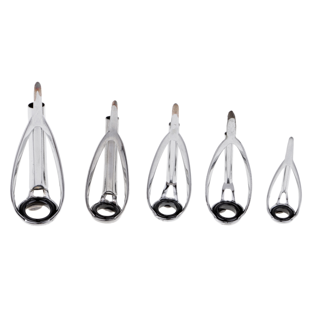 VSTON 75x Sea Fishing Rod Pole Guide Tip Top Ring Eye Repair Kit Stainless Steel