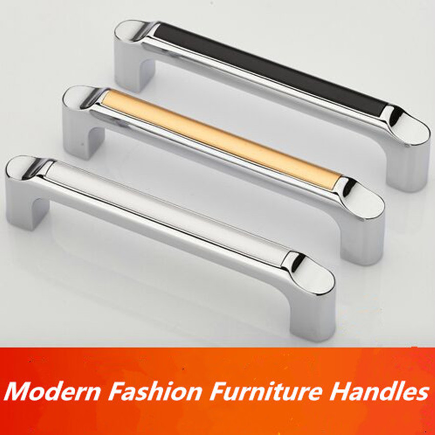 96 мм Блестящая серебряная ручка для кухонного шкафа хромированные стеклянные ручки черный ящик для шкафа