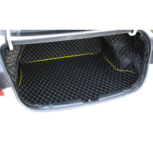 Lsrtw2017 Leather Car Trunk Floor Mat for Kia K3 Kia Cerato lsrtw2017 durable waterproof leather car trunk mat gloor mat for kia kx cross