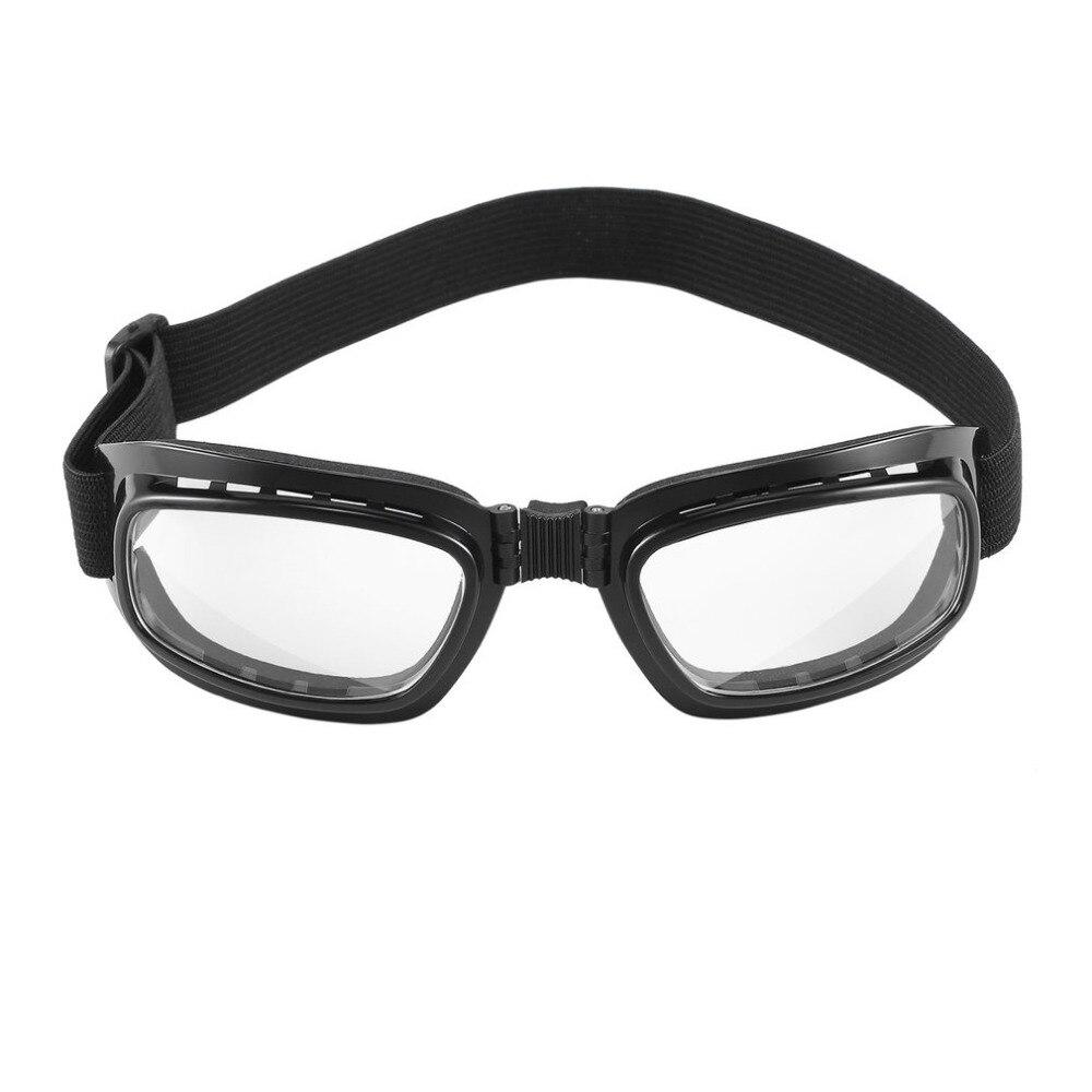 Adjustable Foldable Vintage Motorcycle Glasses Windproof Goggles Ski Snowboard Glasses Off Road Racing Eyewear Dustproof Goggles ...