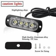 цена на high quality car-styling 12/24V LED Car Truck Motorcycle Light Bar Flash Strobe Warning Lights Lamp White for auto accessories