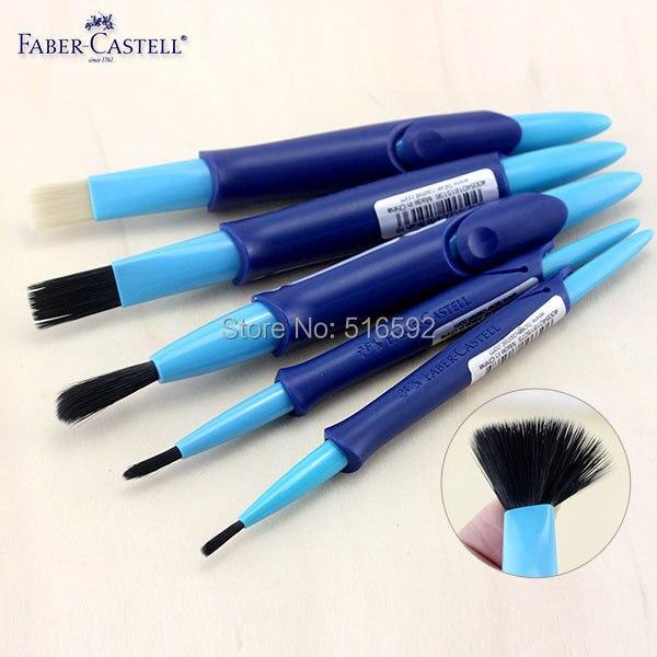 5 pièces Faber Castell eau brosse ensemble, mélange de nylon à poils pinsel Télescopiques pinceaux pour aquarelle peinture, fournitures d'art