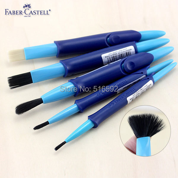 faber castell акварельные краски - 5pcs Faber Castell water brush set, nylon mix with bristle pinsel,Telescopic brushes for watercolor paint,  art supplies