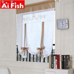 Kitchen short curtains embroid