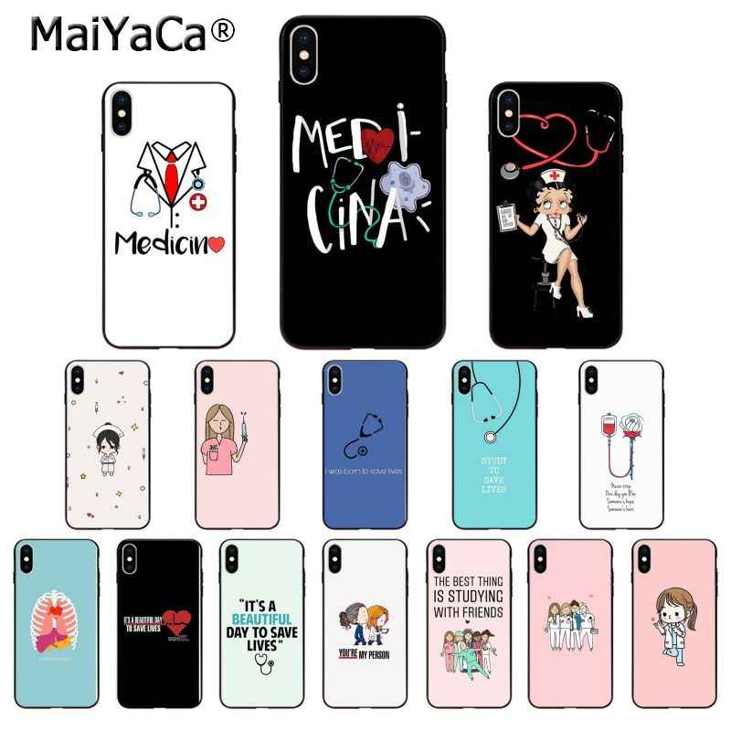 MaiYaCa Nurse Doctor Medical Medicina Health Customer High Quality Phone Case for Apple iPhone 8 7 6 6S Plus X XS MAX 5 5S SE XR