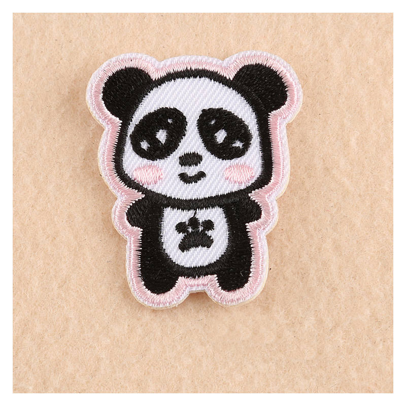 1 PCs Cute Cartoon Bear Panda Patches Iron On Embroidered Patch For Clothing Stick On Badge Paste For Clothes Sew On Bags