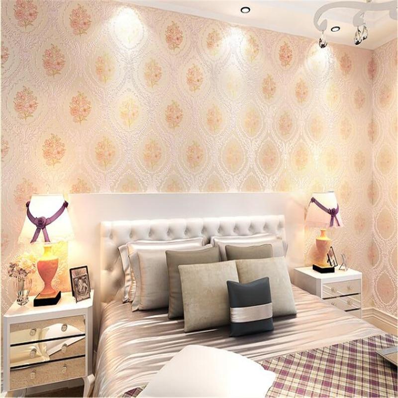 Beibehang Senior européen rural non tissé épais 3 d mode atmosphère douce chambre salon papier peint papel de parede