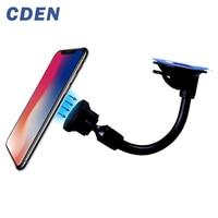 Cden Universele Mobiele Telefoon Dashboard/Voorruit Auto Lange Zwanenhals Magnetische Houder Stand Mount Voor Gps Smartphone Mobiel