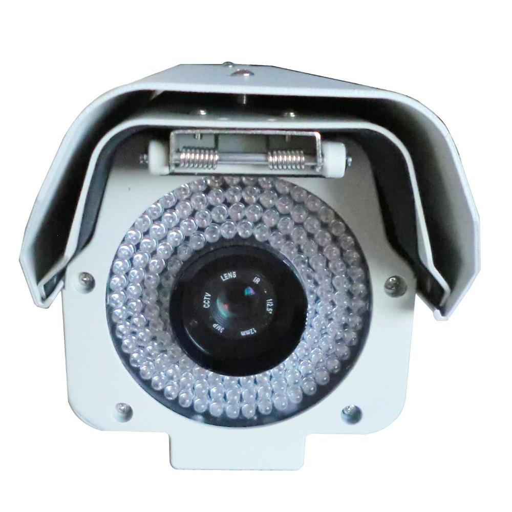 5.0 Megpixels Lentille 2.0MP 1080 P Vechile Reconnaissance de Plaque D'immatriculation Caméra Mégapixels ANPR LPR IP Caméra avec 12mm lentille pour L'autoroute