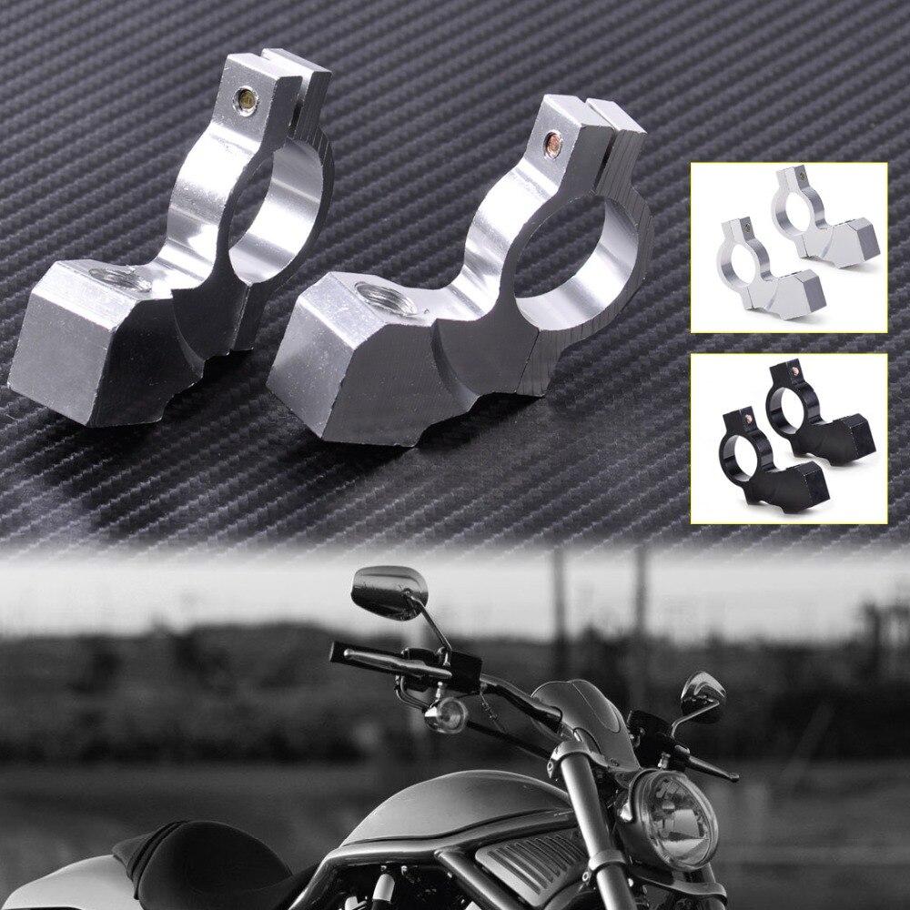 2pcs Motorcycle Handlebar Mirror Mount Mirrors Holder Clamp for 7//8 inch Handle Bar Sports Bike Kawasaki Honda Yamaha 10mm