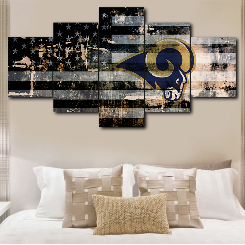 Prime Us 6 72 44 Off Canvas Wall Art Picture Frame Living Room 5 Pieces Los Angeles Rams Home Decoration Hd Printing Sports Poster Canvas Painting In Uwap Interior Chair Design Uwaporg