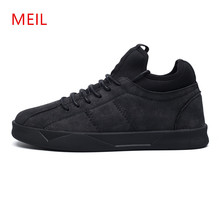 MEIL new shoes men 2018 Leather Shoes Men Flats Spring Autumn Fashion Slip On Casual loafers Mens flats