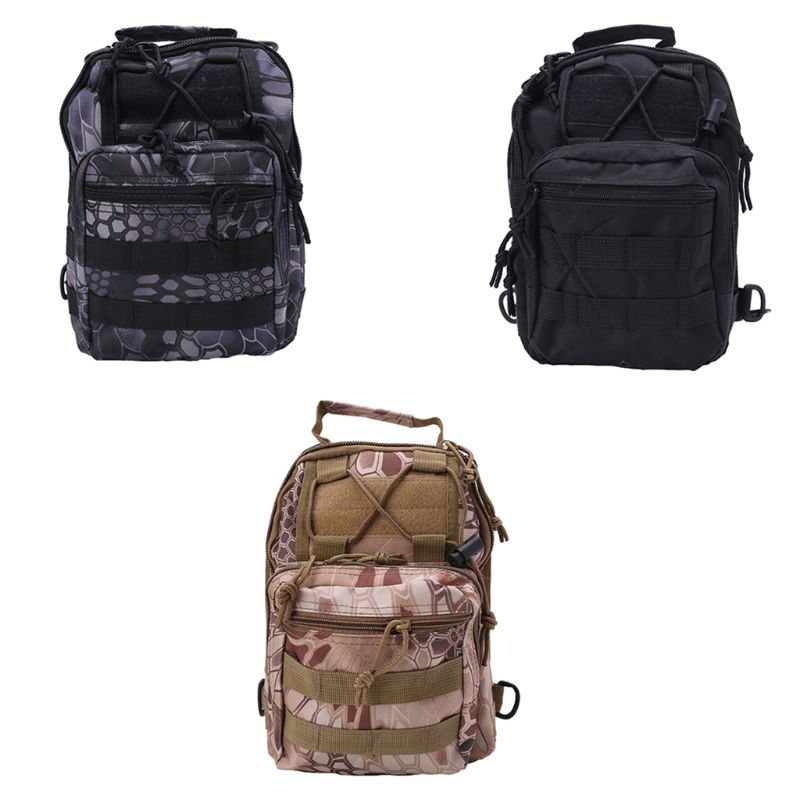 Mens Tactical Sling Chest Bag Assault Pack Messenger Shoulder Bag  Pack Backpack
