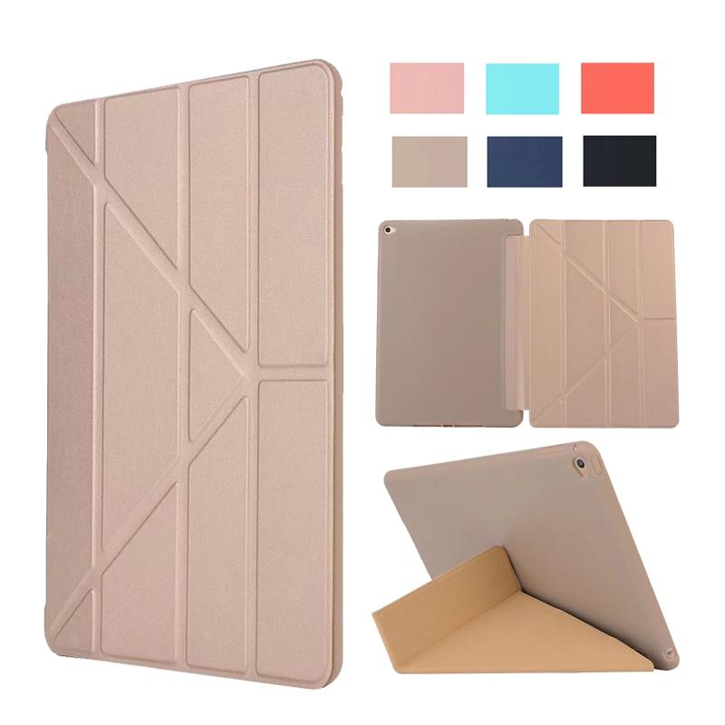 For iPad mini 4 luxury PU Smart Cover Flip Silicone Case Magnet wake up sleep For apple iPad mini4 7.9 inch Retina