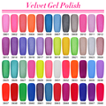 Get 12 pcs Matte Effect Gel Nail New Brand  Soak Off Uv  Color Velvet Nail Polish Gel For Nail Art