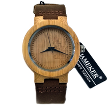 Nature Wooden Watch 2017 Minimalist Clock Bamboo Genuine Leather Fashion Men Women Creative Cool Male Female Gift