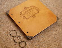"Leather Hardcover Refillable Scrapbook Album / DIY Photo Album |""Lifetime of Love"" 