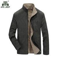 2017 Thiết Kế Mới Mens Double Side Áo Khoác Nam Outwear Giản Dị áo khoác AFS JEEP Nhãn Hiệu Đứng Cổ Áo Jacket Bán Hot 145 D