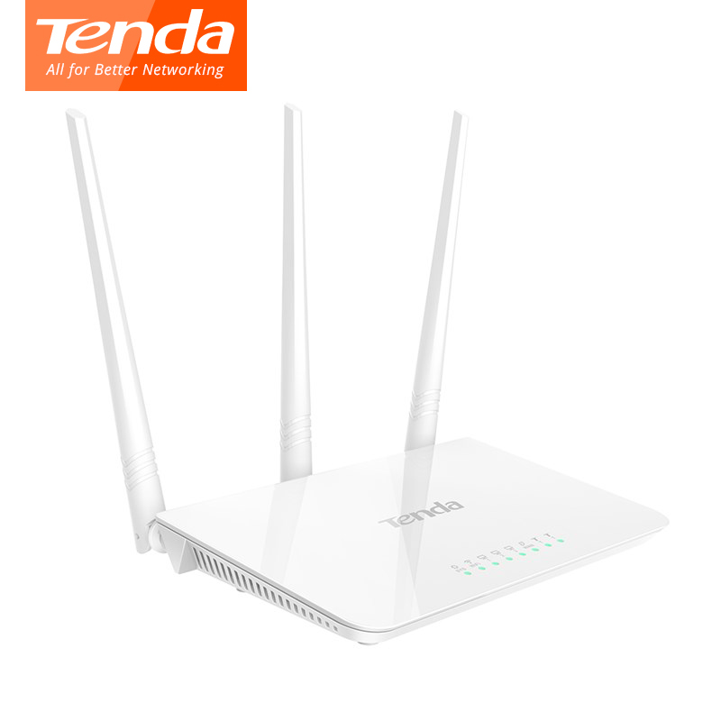 Tenda F3 300Mbps Wireless WiFi Router, Multi Language Firmware, 1*WAN+3*LAN Ports, Perfect to Small & Medium House,Easy Setup
